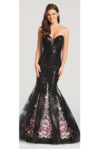 Ellie-Wilde-Mon-Cheri-long-black-dress